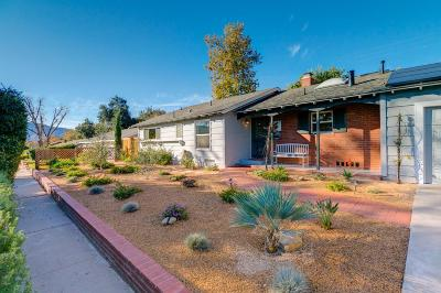Ojai Single Family Home Active Under Contract: 1221 Sunset Place
