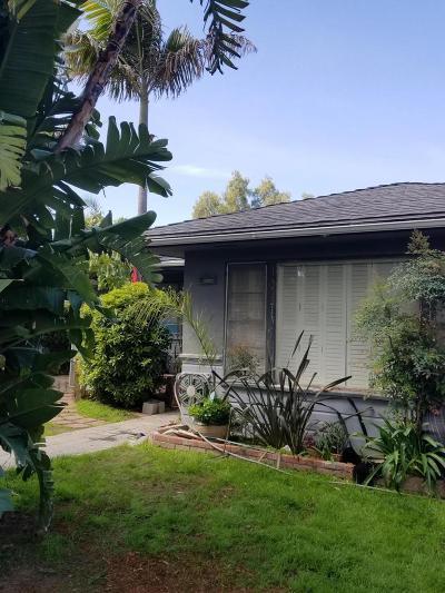 Ventura Single Family Home For Sale: 167 North Evergreen Drive