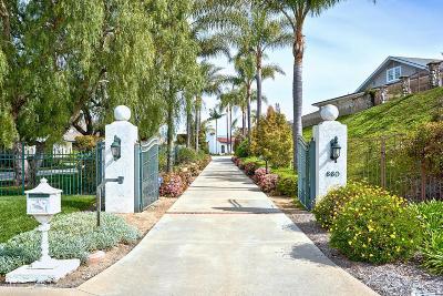 Camarillo Single Family Home For Sale: 660 Via Con Dios