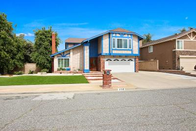 Simi Valley Single Family Home For Sale: 2739 Goldfield Place
