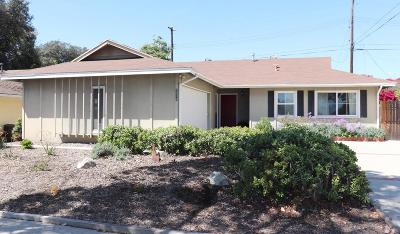 Ventura Single Family Home For Sale: 5919 Cloverly Street