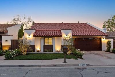 Westlake Village Single Family Home Sold: 2369 Topsail Circle