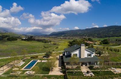 Ojai Single Family Home For Sale: 7887 Ojai Santa Paula Road