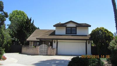 Newbury Park Single Family Home Active Under Contract: 3754 Bailey Court