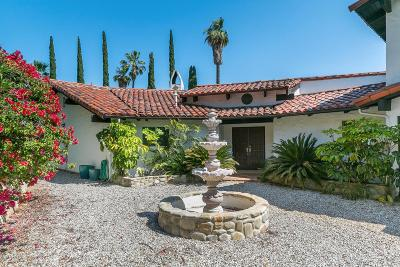 Ojai Single Family Home For Sale: 1477 Foothill Road