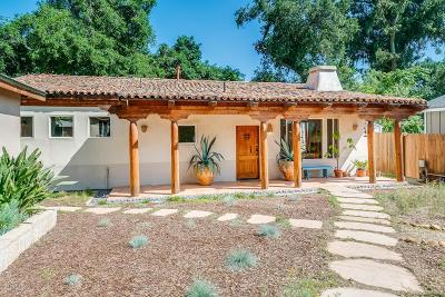 Ojai Single Family Home For Sale: 288 North La Luna Avenue
