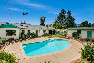 Ojai Single Family Home For Sale: 2490 Bonmark Drive