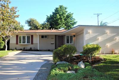 Ventura Single Family Home Active Under Contract: 4499 Whittier Street