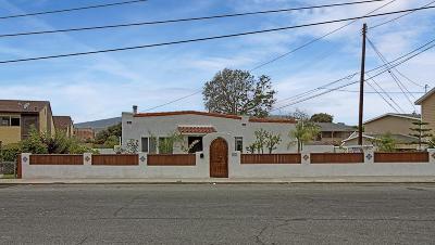 Ventura Single Family Home For Sale: 633 Cedar Street