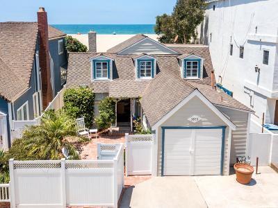 Oxnard Single Family Home For Sale: 3853 Ocean Drive