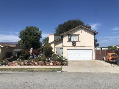 Oxnard Single Family Home Active Under Contract: 1224 Callas Drive