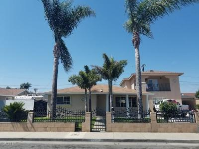 Oxnard Single Family Home For Sale: 1359 West Date Street
