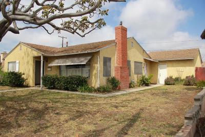 Oxnard Single Family Home For Sale: 3110 South J Street