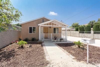 Moorpark Single Family Home For Sale: 931 Walnut Canyon Road