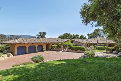 Ojai Single Family Home For Sale: 537 Del Oro Drive