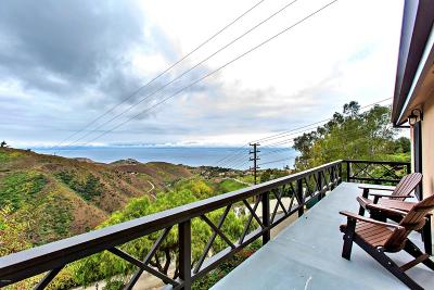 Malibu Single Family Home For Sale: 4355 Ocean View Drive