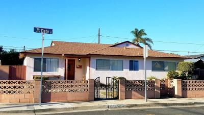 Oxnard Single Family Home For Sale: 1449 West Date Street
