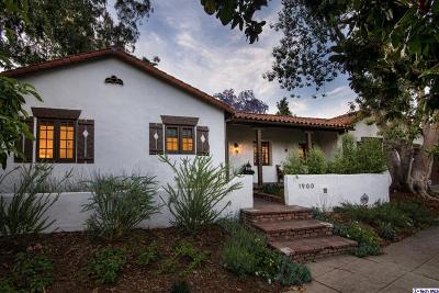 San Marino Single Family Home For Sale: 1900 Montrobles Place Place