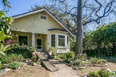 South Pasadena Single Family Home For Sale: 1008 Mound Avenue