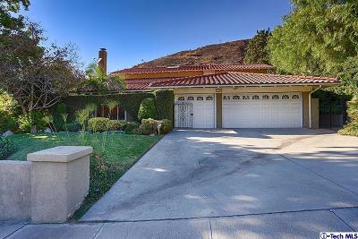 Burbank Single Family Home For Sale: 3429 Brace Canyon Road