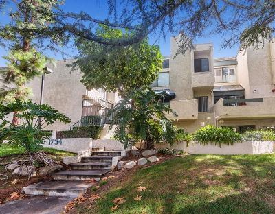Glendale Condo/Townhouse For Sale: 1734 North Verdugo Road #14