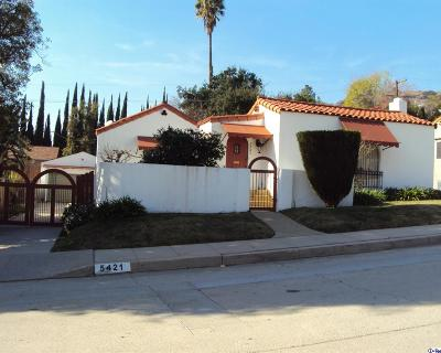 Los Angeles Single Family Home For Sale: 5421 Dahlia Drive