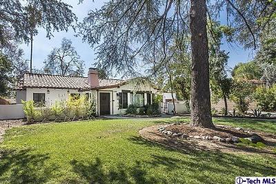Pasadena Single Family Home For Sale: 1040 East Woodbury Road