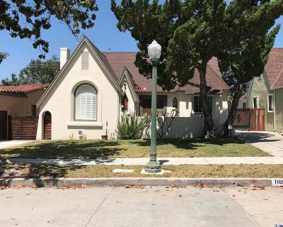 Glendale Single Family Home For Sale: 1109 Cordova Avenue