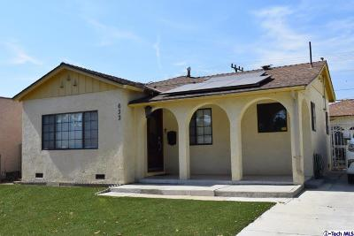 Glendale Single Family Home For Sale: 633 Hawthorne Street