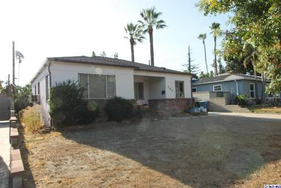 Burbank Single Family Home For Sale: 743 North Beachwood Drive
