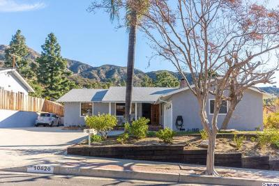 Tujunga Single Family Home For Sale: 10826 Deliban Street