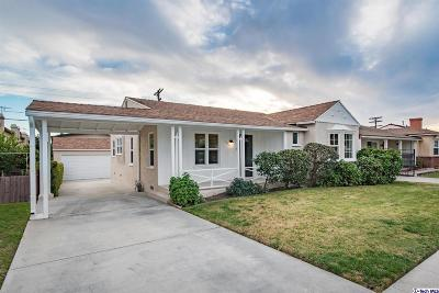 Glendale Single Family Home For Sale: 1340 Carlton Drive