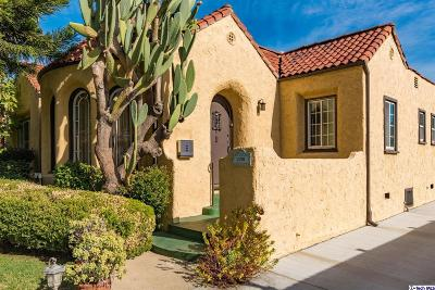 Glendale Single Family Home Active Under Contract: 1356 Graynold Avenue