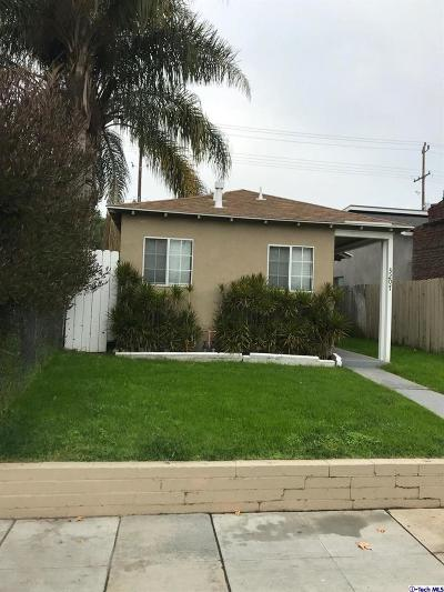 Burbank Single Family Home For Sale: 3207 West Alameda Avenue