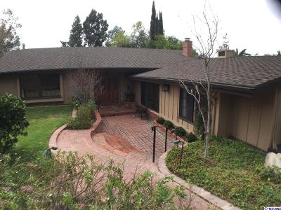 La Crescenta Single Family Home For Sale: 2528 Laughlin Avenue