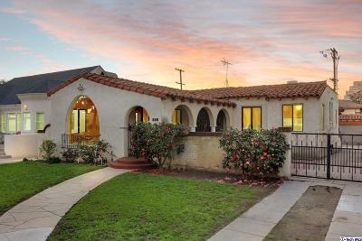 Glendale Single Family Home For Sale: 539 North Howard Street
