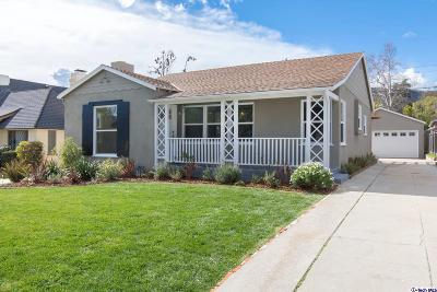 Glendale Single Family Home For Sale: 3437 Downing Avenue