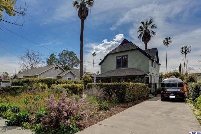 Pasadena Single Family Home For Sale: 862 East Howard Street
