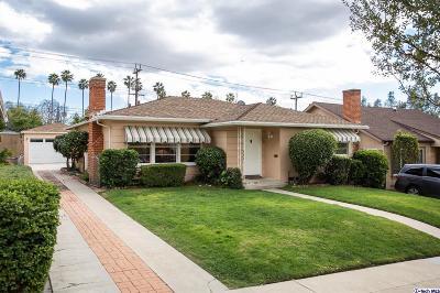 Glendale Single Family Home For Sale: 1518 Raymond Avenue