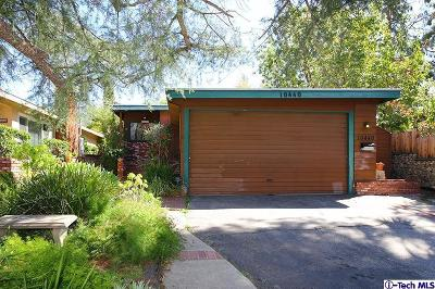 Tujunga Single Family Home For Sale: 10440 Tujunga Canyon Boulevard