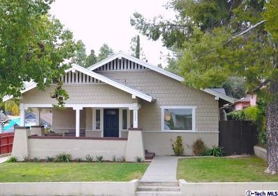 Pasadena Single Family Home For Sale: 1303 North Raymond Avenue