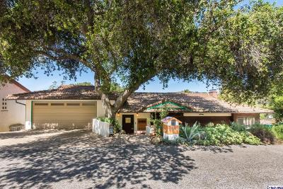 Glendale Single Family Home For Sale: 3480 Linda Vista Road