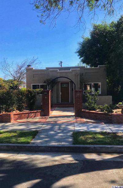 Glendale Single Family Home For Sale: 1464 Stanley Avenue