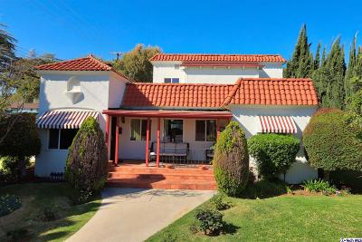 Glendale Single Family Home For Sale: 3201 Castera Avenue