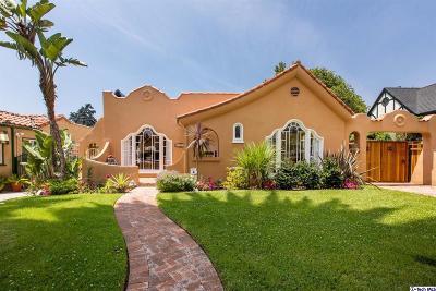 Glendale Single Family Home For Sale: 1133 Cordova Avenue
