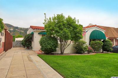 Glendale Single Family Home For Sale: 1324 Moncado Drive