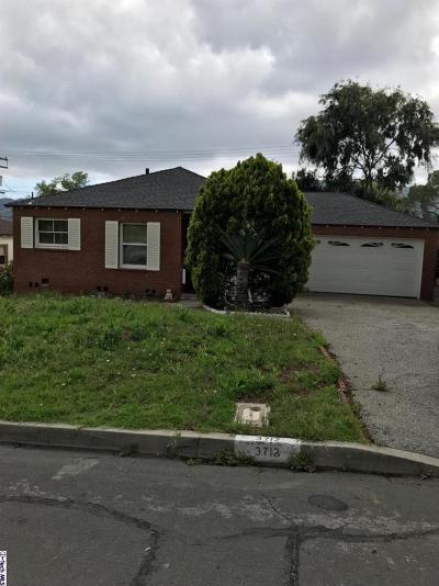 La Crescenta Single Family Home Active Under Contract: 3712 Fairesta Street