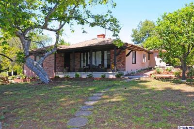 La Crescenta Single Family Home Active Under Contract: 4211 Rosemont Avenue