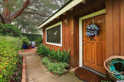 La Crescenta Single Family Home For Sale: 2306 Manzanita Lane