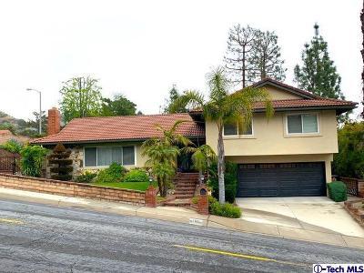 La Crescenta Single Family Home Active Under Contract: 5610 Pine Cone Road